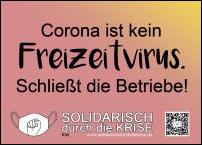 Corona ist kein Freizeitvirus